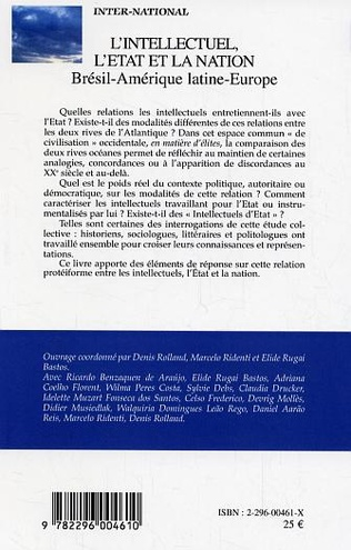 4eme L'intellectuel, l'Etat et la nation