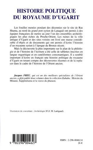4eme Histoire politique du royaume d'Ugarit