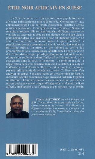 4eme Etre noir africain en Suisse