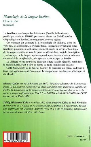 4eme Phonologie de la langue koalibe