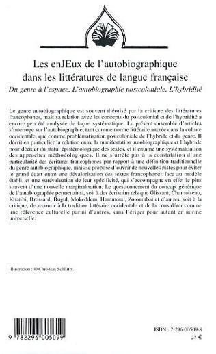 4eme Les enJEux de l'autobiographie dans les littératures de langue française
