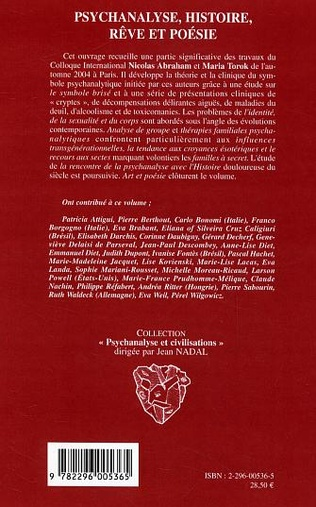 4eme Psychanalyse, histoire, rêve et poésie