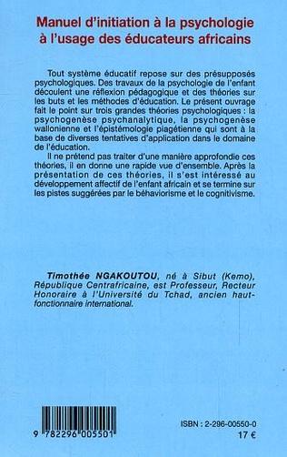 4eme Manuel d'initiation à la psychologie à l'usage des éducateurs africains