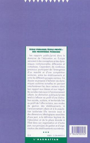 4eme Ecole publique / école privée : des frontières poreuses