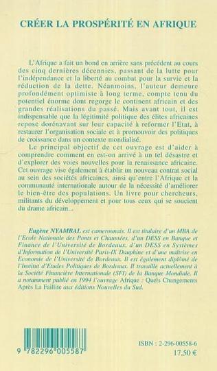 4eme Créer la prospérité en Afrique