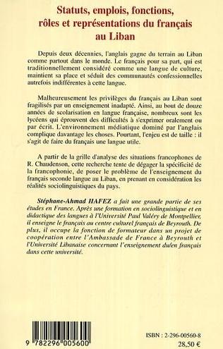 4eme Statuts, emplois, fonctions, rôles et représentations du français au Liban