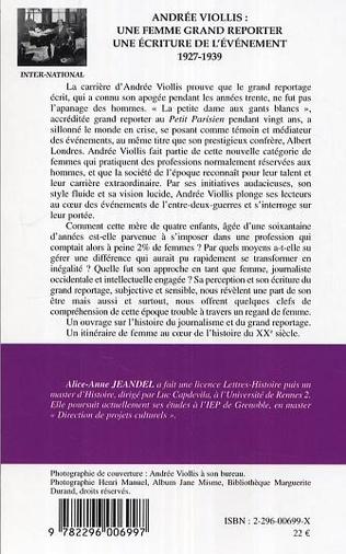 4eme Andrée Viollis: une femme grand reporter