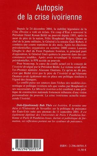 4eme Autopsie de la crise ivoirienne
