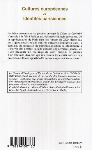 4eme Cultures européennes et Identités parisiennes