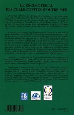 4eme Le régime fiscal des collectivités d'outre-mer