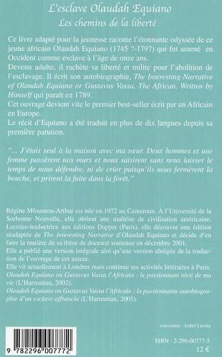 4eme L'esclave Olaudah Equiano, les chemins de la liberté