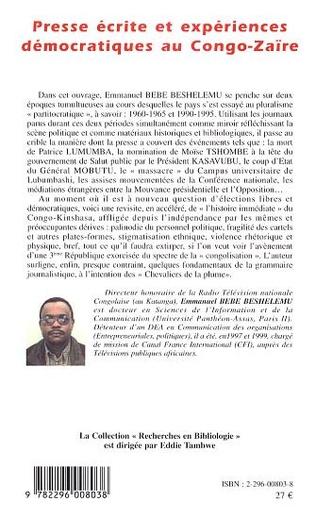 4eme Presse écrite et expériences démocratiques au Congo-Zaïre