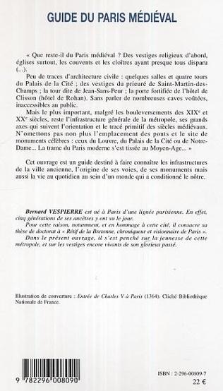 4eme Guide du Paris médiéval