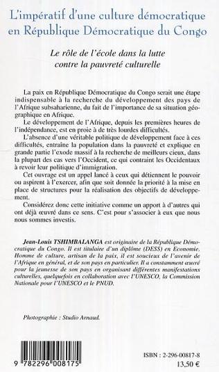 4eme L'impératif d'une culture démocratique en République Démocratique du Congo