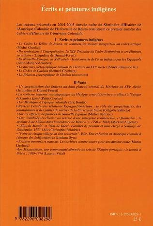 4eme Ecrits et peintures indigènes