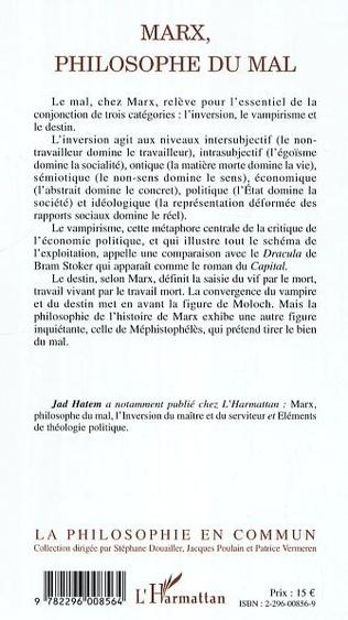 4eme Marx, philosophie du mal