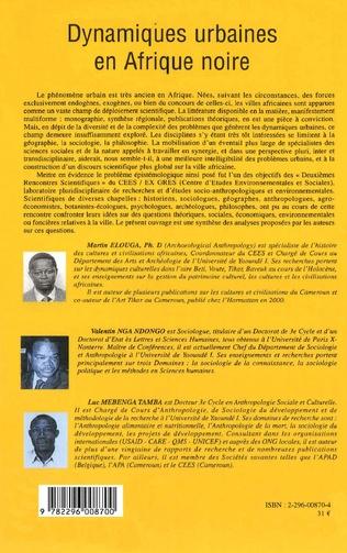 4eme Dynamiques urbaines en Afrique noire