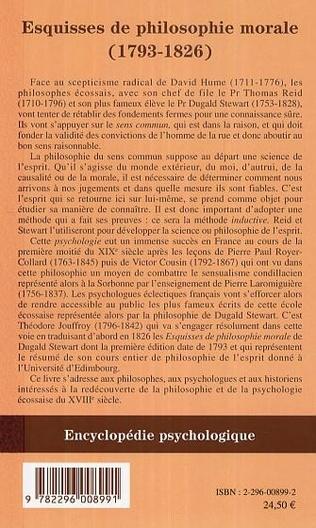 4eme Esquisses de la philosophie morale (1793-1826)