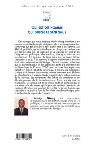4eme Qui est cet homme qui dirige le Sénégal ?