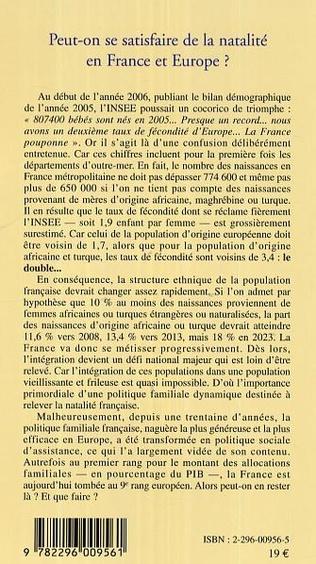 4eme Peut-on se satisfaire de la natalité en France et en Europe ?