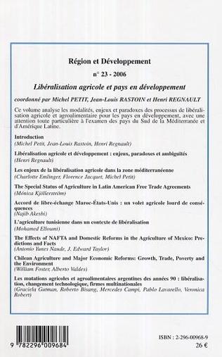 4eme Libéralisation agricole et pays en développement