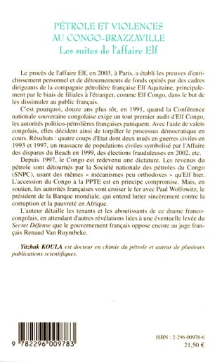 4eme Pétrole et violences au Congo-Brazzaville