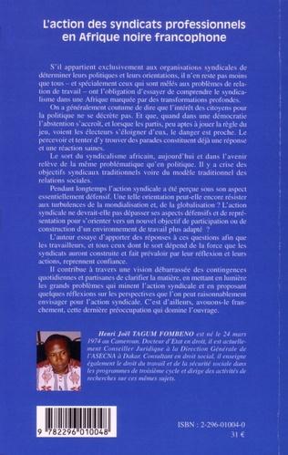4eme L'action des syndicats professionnels en Afrique noire francophone