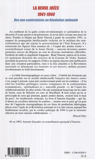 4eme La revue Idées (1941-1944)