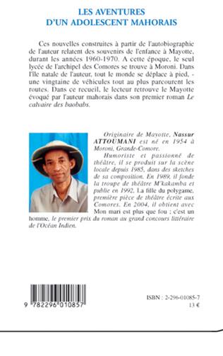 4eme Les aventures d'un adolescent mahorais
