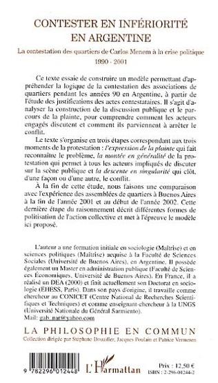 4eme Contester en infériorité en Argentine