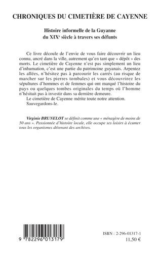4eme Chroniques du cimetière de Cayenne