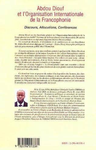 4eme Abdou Diouf et l'Organisation Internationale de la Francophonie