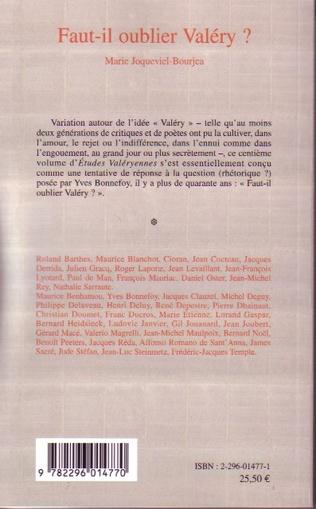 4eme Faut-il oublier Valéry ?