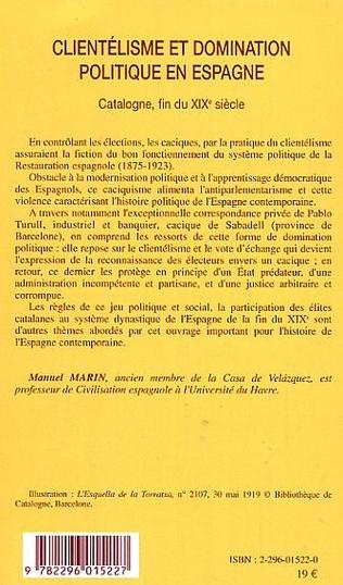4eme Clientélisme et domination politique en Espagne