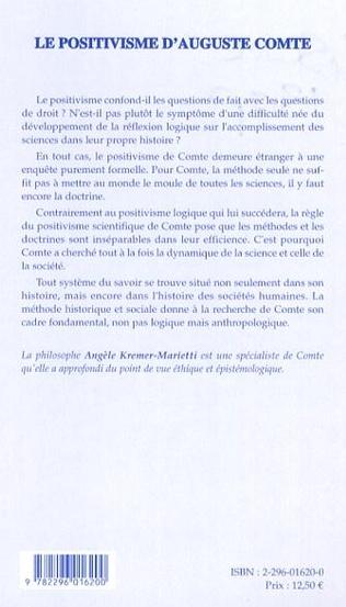 4eme Le positivisme d'Auguste Comte