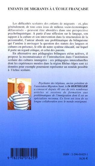 4eme Enfants de migrants à l'école française