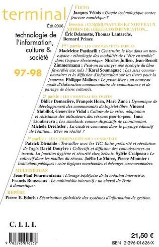 4eme Communautés et nouveaux modes de (télé)communication