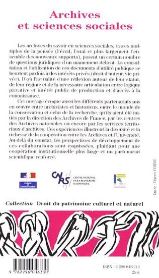 4eme Archives et sciences sociales