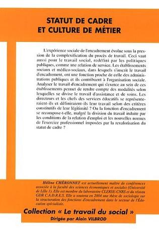 4eme Statut de cadre et culture de métier