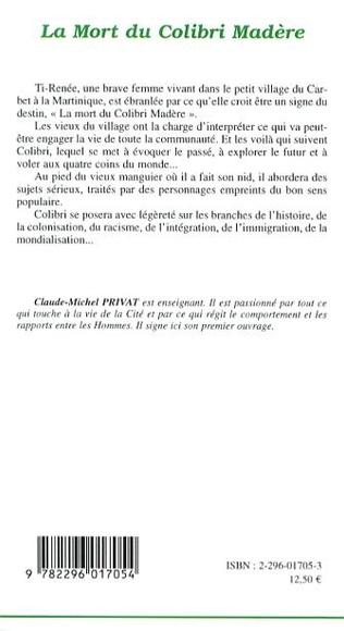 4eme La mort du Colibri Madère