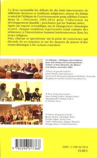 4eme Dialogues interreligieux pour une éthique de l'environnement