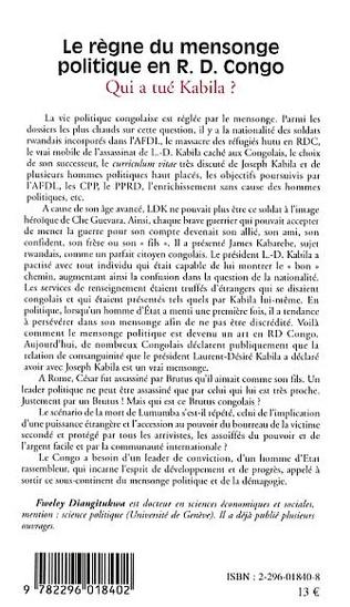 4eme Le règne du mensonge politique en R.D. Congo