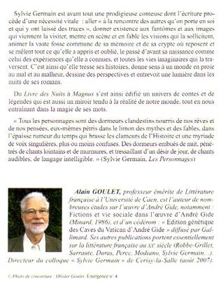 4eme Sylvie Germain : oeuvre romanesque