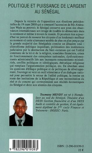 4eme Politique et puissance de l'argent au Sénégal