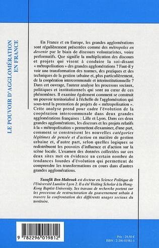 4eme Le pouvoir d'agglomération en France