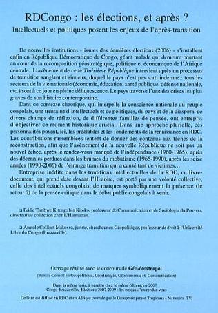 4eme RDCongo : Les élections, et après ?