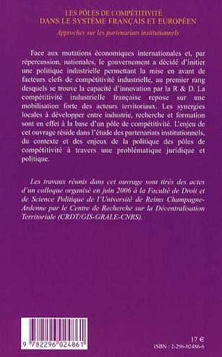 4eme Les pôles de compétitivité dans le système français et européen