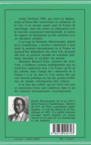 4eme Les DOM-TOM enjeu géopolitique, économique et stratégique