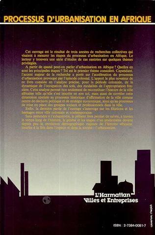 4eme Processus d'urbanisation en Afrique