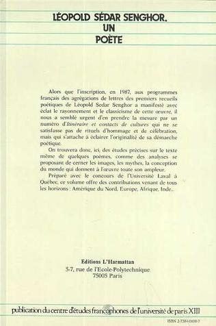 4eme Léopold Sédar Senghor, un poète